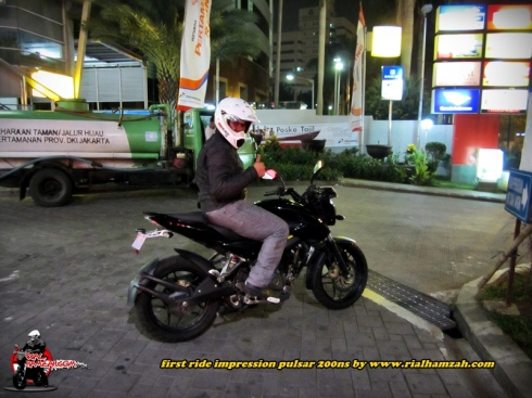 Rial hamzah Pulsar 200 ns test ride
