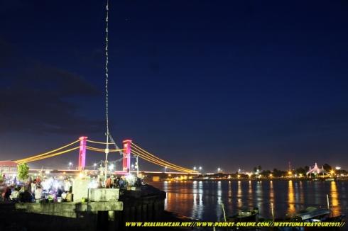 Ampera Bridge at night photo